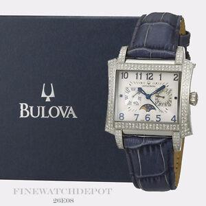 Authentic Bulova Accutron Men's Stainless Steel Diamond Innsbruck Watch 26E08