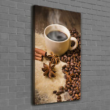 Leinwand-Bild Kunstdruck Hochformat 70x100 Bilder Kaffeebohnen