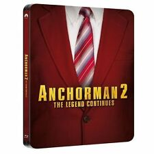 Anchorman 2 - The Legend Continues blu ray Steelbook - 2 disc set ( NEW )