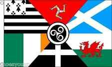 Celtic Nations Flag 3ft x 2ft (90cm x 60cm) Flag Banner
