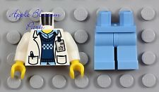 NEW Lego Male DOCTOR SCIENTIST - Hospital White Lab Coat Tech Minifig Torso Legs