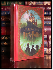 Harry Potter & Sorcerers Stone Illustrated by Minalima New Deluxe Cloth Hardback