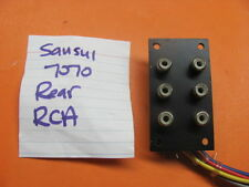 SANSUI RCA TERMINAL BANK 6P 7070 STEREO RECEIVER