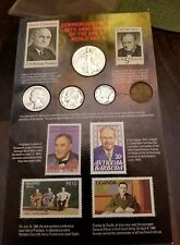 COMMEMORATING THE 50TH ANNIVERSARY OF THE END OF WORLD WAR II COINS & STAMPS