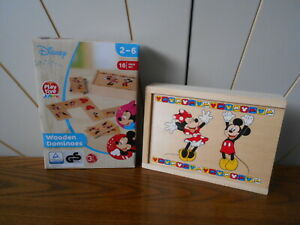 MICKEY AND MINNIE MOUSE wooden picture dominoes DISNEY Playtive Junior, toddler
