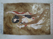 "Persian Tapestry 18.5""x33"" Wall Hanging Dancing Lady"