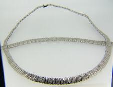38.93 Gramos Plata de Ley & Diamante Original Collar y Pulsera Set 1L