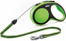 Flexi Comfort 1 Small 5m Cord Green Dogs Collars & Leads Extending Leads BN