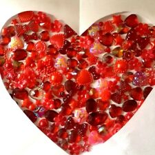Red Mix 60 Flatback Embellishments Card making scrapbooking craft kids