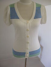 Cotton Short Sleeve Striped Jumpers & Cardigans for Women