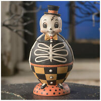 Bethany Lowe Silly Bones Spooks Skeleton Storage Jar Halloween Retro Vntg Decor