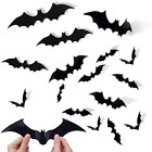 Halloween 3d Bats Decoration Black Bat Sticker For Home Decor