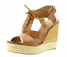 Klub Nico VERONICA Cognac Brown Leather Wedge Sandals 7794 Size 9 M NEW!