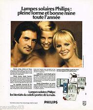 PUBLICITE ADVERTISING 065  1974  PHILIPS   les lampes solaires