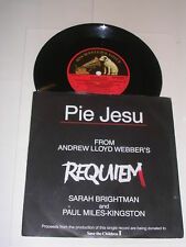 "SARAH BRIGHTMAN & PAUL MILES-KINGSTON - Pie Jesu - 1985 7"" Single"