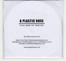 (EF182) A Plastic Rose, This Side of Winter - 2013 DJ CD
