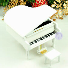 "Play ""MARIAGE D'AMOUR"" Wooden Piano Music Box With Sankyo Movement (White)"