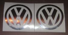 VW Volkswagen logos retro mirror chrome vinyl decals