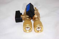"Adapter Pair HVAC Tool Manifold Pump Port Flow Control Ball Valve 1/4X1/4"" 29980"