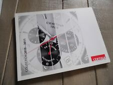 "CATALOGUE MONTRES ""CERTINA"" COLLECTION 2010-2011 HOMME FEMME 72 pages"