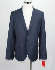 NWT Topman Men's Blazer Jacket 46R Navy Blue Textured X Slim Fit Wool Blend