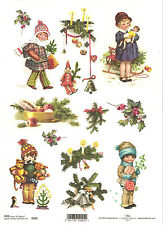 Rice Paper for Decoupage, Scrapbooking, Christmas Vintage Children A4 ITD R205