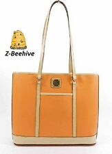 Dooney & Bourke Coral Orange Large Cynthia Tote Bag Purse Pebble Leather NWT