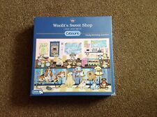gibsons 1000 piece jigsaw puzzles used 'Woofits Sweet Shop'.