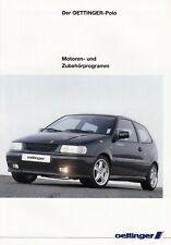 VW VOLKSWAGEN POLO OETTINGER Tuning Zubehör Prospekt Brochure 1995 76