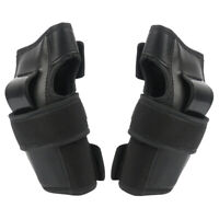 1 Pair Black Elbow Wrist Pads Sport Safety Protective Gear Guard for Adult Skate