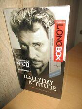Johnny-Rare Long Box-Tirage limité&numéroté-Hallyday Attitude- 4cd s + livre-