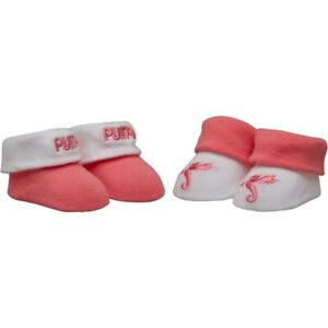 Puffa Baby Girls Two Pack Booties Strawberry Pink - RRP £12.99