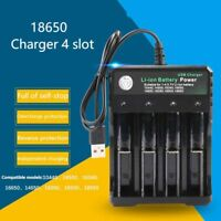3.7V 18650 Charger Li-ion Battery USB Independent Charging LED Light Indication