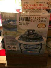 Envirascape Crystal Waters Homedics Body Basics Relaxation Fountain with Light