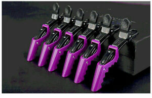 6 Pcs Hair Clips Hairdressing Clamps  Crocodile Plastic Sectioning Professional