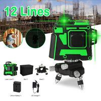 12 Lines 3D 360° Green Laser Level Self-Leveling Cross Line Horizontal Vertical