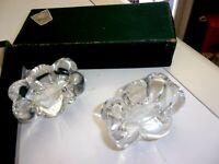 Ancienne Paire de salière poivrière cristal DAUM France Dans sa boîte d'origine