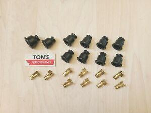 10 Straight socket style Spark Plug Distributor Magneto Coil Terminal & Boot kit