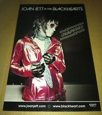 JOAN JETT 2013 PROMO POSTER for Unvarnished CD MINT USA 17 x11 NEVER DISPLAYED