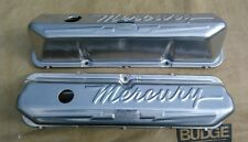 Vintage Mercury Script FE 352 390 410 427 428 CJ Tall Pent Valve Covers, EC!!!