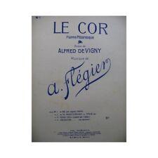 FLÉGIER A. Le Cor Chant Piano 1947 partition sheet music score