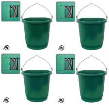 (4) ea Farm Innovators Fb-80 3 Gallon Flat Back Heated Livestock Water Buckets