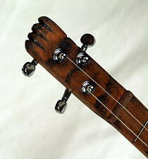 Cigar Box Guitar - Oak Neck, Fretted, 3 string acoustic or electric