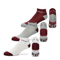 Texas A&M Aggies NCAA 3 Pack Ankle Socks Men's Adult Size Large (10-12)