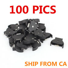 100pcs 3V Button Coin Cell Battery CR2025 CR2032 Computer Socket Holder Case