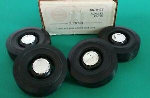 Set of 4 Cox Adam-12 Model Car Wheels & Tires