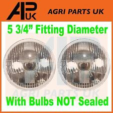 2 X JCB Fastrac Front Headlights Headlamps Light Lens & Halogen Bulb NOT SEALED