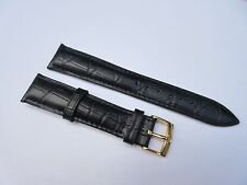NEW OMEGA 18MM BLACK BAND WITH OMEGA BUCKLE
