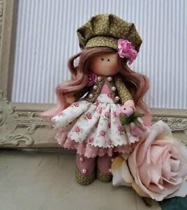 Rag doll handmade in the UK Tilda doll Ooak doll Cloth doll VICTORIA 6 inch tall