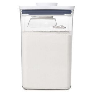 Square Pop Container with Scoop 1 Litre Kitchen Storage Plastic OXO Good Grips